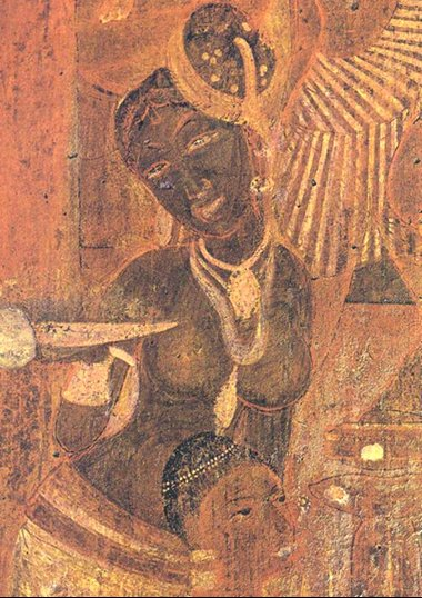 The o 39 jays caves and india on pinterest for Ajanta mural painting