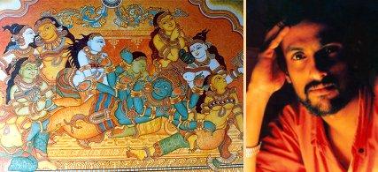 Indian heritage paintings of india kerala murals for Asha mural painting guruvayur